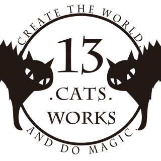 13.CATS.WORKSロゴ ポストカード−13.CATS.WORKSオリジナル