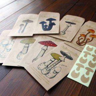 ●キノコ図鑑シリーズ2●アンティークキノコ図鑑のポチ袋