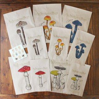 ●キノコ図鑑シリーズ2●アンティークきのこ図鑑のラッピング袋