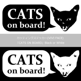 カッティングステッカー(VIVI FACE) [CATS ON BORD] Black or White 13.CATS.WORKSオリジナル