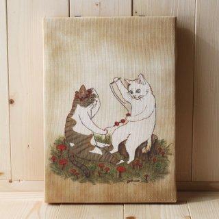 複製画●猫とネコのお友達シリーズ●だいずとあずき