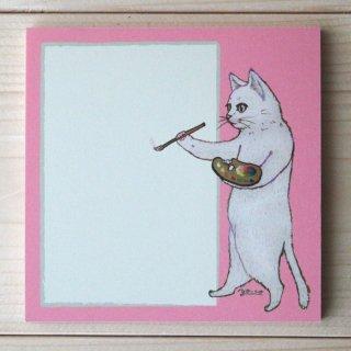 ●猫とネコの絵本シリーズ●猫のお絵描き メモパッド