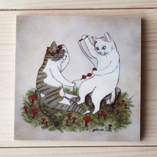 ●猫とネコのお友達シリーズ●だいずとあずき メモパッド