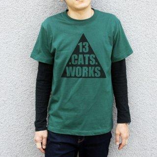 Tシャツ(トライアングルロゴ)-シルクスクリーン-13.CATS.WORKSオリジナル