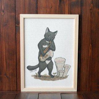 黒猫楽団『サックス』 複製原画A4シート