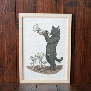 黒猫楽団『トランペット』 複製原画A4シート
