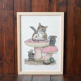 『猫の文豪』 複製原画A4シート