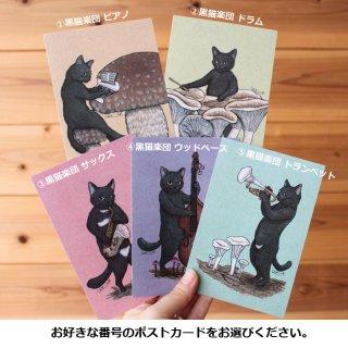 ●猫とネコのお友達4●黒猫楽団 ポストカード