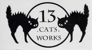 える様専用購入ページ カッティングステッカー(ロゴ)ミニサイズ 外周文字なし(黒) 13.CATS.WORKSオリジナル