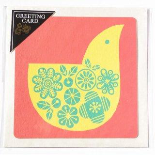 正方形グリーティングカード「春色とり」
