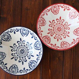 セットポトフ皿 (赤・青)