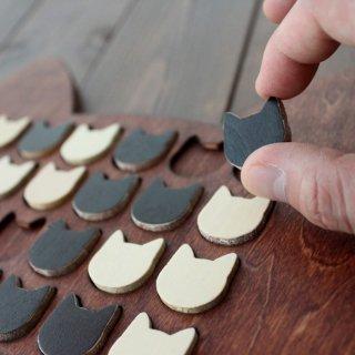 木製ネコ型リバーシ