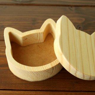 木製☆猫の小箱 ナチュラル