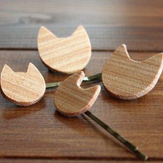 木製-猫ヘアピン&猫バッジ- 13.CATS.WORKSオリジナル