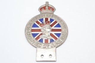 エリザベス2世 戴冠式記念バッジ 1953