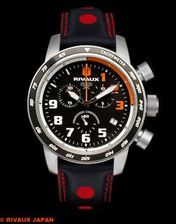 COMPETITION CHRONOGRAPH RVX146DNC Leather Strap Black / Red 2021 RUNUP Limited Edition