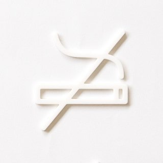 NO SMOKING (white)<img class='new_mark_img2' src='https://img.shop-pro.jp/img/new/icons5.gif' style='border:none;display:inline;margin:0px;padding:0px;width:auto;' />