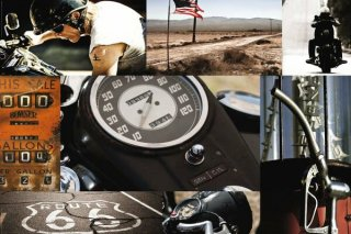 ルート66(コラージュ) ポスター