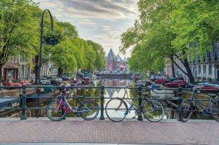 アムステルダム(イラスト) ポスター
