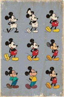 ミッキーマウスの移り変わり ポスター