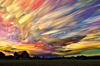 七色の夕空 ポスター