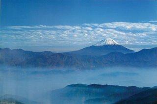 富士山/雲 ポスター