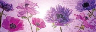 紫の花々 ポスター