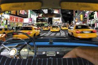タイムズスクエアをタクシーで ポスター