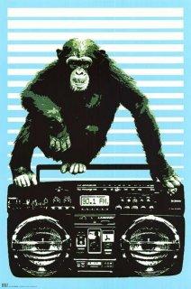 ラジカセと猿 ポスター