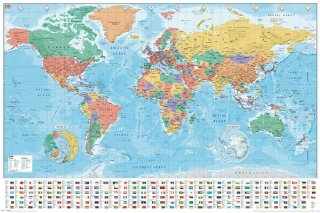 世界地図 ポスター