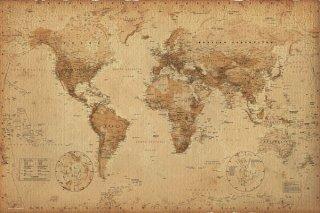 世界地図(アンティーク調) ポスター