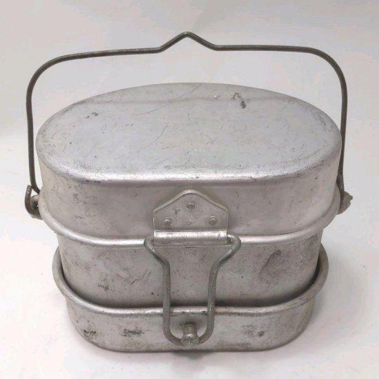 イタリア軍 飯ごう 3ピース 1960年代 ミリタリーメスキット 飯盒 キャンプ アウトドア 中古 ビンテージ ヴィンテージ�