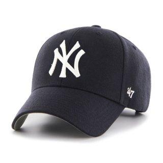 <img class='new_mark_img1' src='https://img.shop-pro.jp/img/new/icons58.gif' style='border:none;display:inline;margin:0px;padding:0px;width:auto;' />【47BRAND(フォーティーセブン ブランド)】Yankees Home '47 MVP(スナップバックキャップ) Navy
