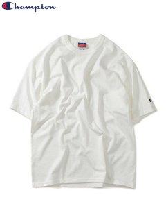 【Champion(チャンピオン)】7oz HERITAGE JERSEY TEE (ワンポイント 無地Tシャツ) White