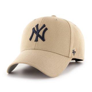 <img class='new_mark_img1' src='https://img.shop-pro.jp/img/new/icons58.gif' style='border:none;display:inline;margin:0px;padding:0px;width:auto;' />【47BRAND(フォーティーセブン ブランド)】Yankees '47 MVP(スナップバックキャップ) Khaki