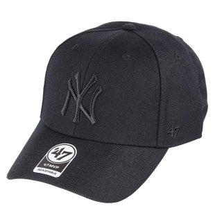 <img class='new_mark_img1' src='https://img.shop-pro.jp/img/new/icons58.gif' style='border:none;display:inline;margin:0px;padding:0px;width:auto;' />【47BRAND(フォーティーセブン ブランド)】Yankees '47 MVP(スナップバックキャップ) Black×Black