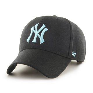 <img class='new_mark_img1' src='https://img.shop-pro.jp/img/new/icons7.gif' style='border:none;display:inline;margin:0px;padding:0px;width:auto;' />【47BRAND(フォーティーセブン ブランド)】Yankees '47 MVP(スナップバックキャップ) Black×Lt.Blue