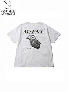 【MAGIC STICK(マジックスティック)】GRENADE T (半袖Tシャツ) White