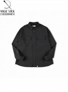 【MAGIC STICK(マジックスティック)】THE CORE Ideal Box Shirts (長袖シャツ)  Black