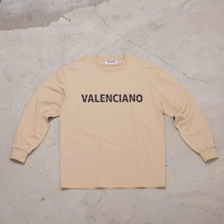 <img class='new_mark_img1' src='https://img.shop-pro.jp/img/new/icons7.gif' style='border:none;display:inline;margin:0px;padding:0px;width:auto;' />【VALENCIANO BY KELME(バレンシアーノ バイ ケレメ)】L/S LOGO T-SHIRTS (ロゴ 長袖Tシャツ) Beige