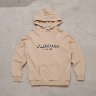 <img class='new_mark_img1' src='https://img.shop-pro.jp/img/new/icons7.gif' style='border:none;display:inline;margin:0px;padding:0px;width:auto;' />【VALENCIANO BY KELME(バレンシアーノ バイ ケレメ)】OVERSIZED LOGO HOODIE (ロゴ パーカー) Beige