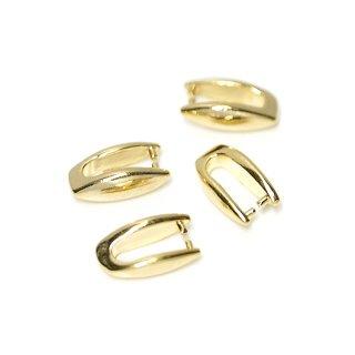 【4個入り】光沢ゴールド!シンプルバチカン、金具