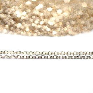 【2本入り】留め具含め約43cm(厚み約1.2mm)ゴールドネックレスチェーン