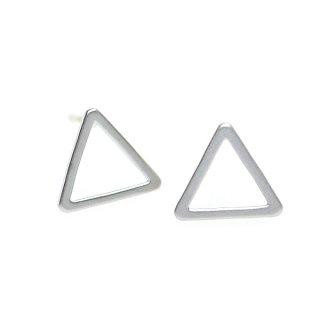 【1ペア】925刻印芯!10*1mm 三角形マッドシルバー、シルバー925芯ピアス、パーツ
