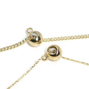 【6個入り】カン付き!ゴム入りの直径約5mmスライドボールゴールド留め金具、エンドパーツ