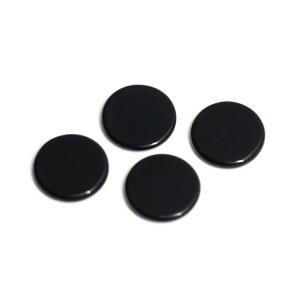 【1個】約10 × 10mmブラックカラー円形チャーム