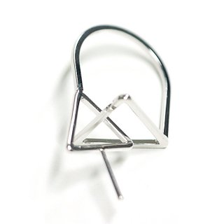 【1個】Duo Triangle重なる三角形ピートン付きシルバーリング製作台