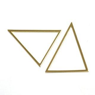 【1個】しっかりした光沢ゴールドTriangle三角形40×50mmチャーム