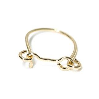 【1個】開閉式光沢ゴールド指輪、リング製作のパーツ