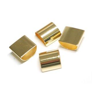 【4個入り】約6mm、約11mmハーフサークルモチーフのゴールドパーツ、レジン枠